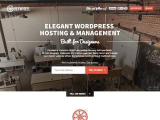 Flywheel - Elegant WordPress hosting & management – Built for designers