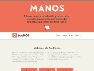 Handcrafted websites, mobile apps and brands - Manos